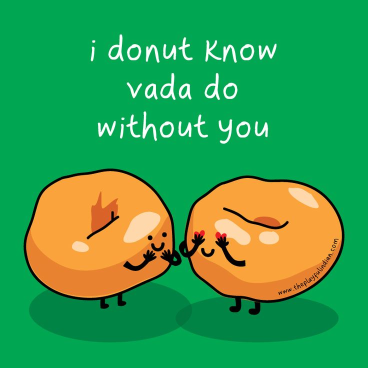 Indian food-inspired card to truly brighten up anyone's day with 2 puns in one! :) #proud #donut #vada #indianfood