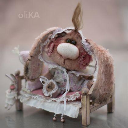 Катюня - заяц,зайка,зайка девочка,зайка тедди,olika,кремовый,маленькая игрушка