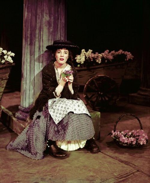 Julie Andrews as Eliza Doolittle in My Fair Lady on Broadway