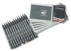 Stargazer Tattoo Pen Set (13 Pens + 12 Stencils) #t4aw #tattooforaweek #temporarytattoo #faketattoo #stargazer #pen #set #stencils #tattoo #fake #diy