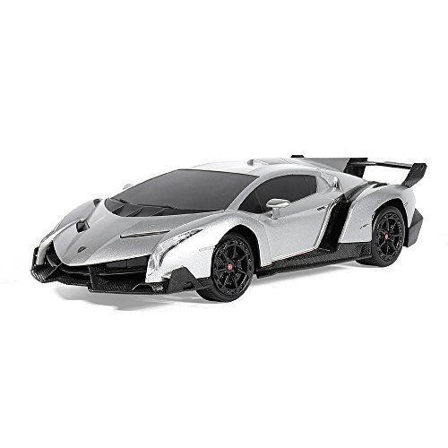 Car Toys For Boys Remote Control Lamborghini Racing Car Birthday Gift Silver NEW #GT