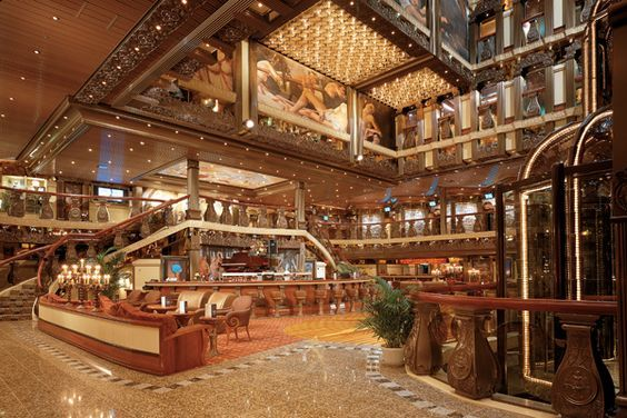 The Grand Atrium and Bar on the Carnival Pride