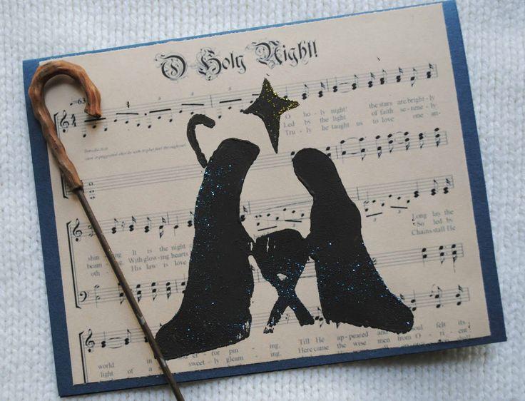 zakka life: Linoleum Print Christmas Cards