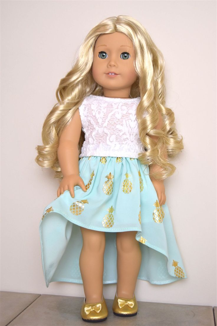 Pineapple Outfit High Low skirt and top American Girl Doll Clothes by EliteDollWorld on Etsy https://www.etsy.com/listing/272083410/pineapple-outfit-high-low-skirt-and-top