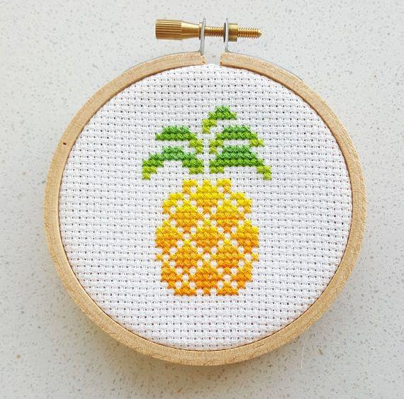 Pineapple cross stitch patterns