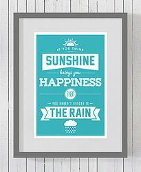 Sunshine & Rain unframed art print for just $20.