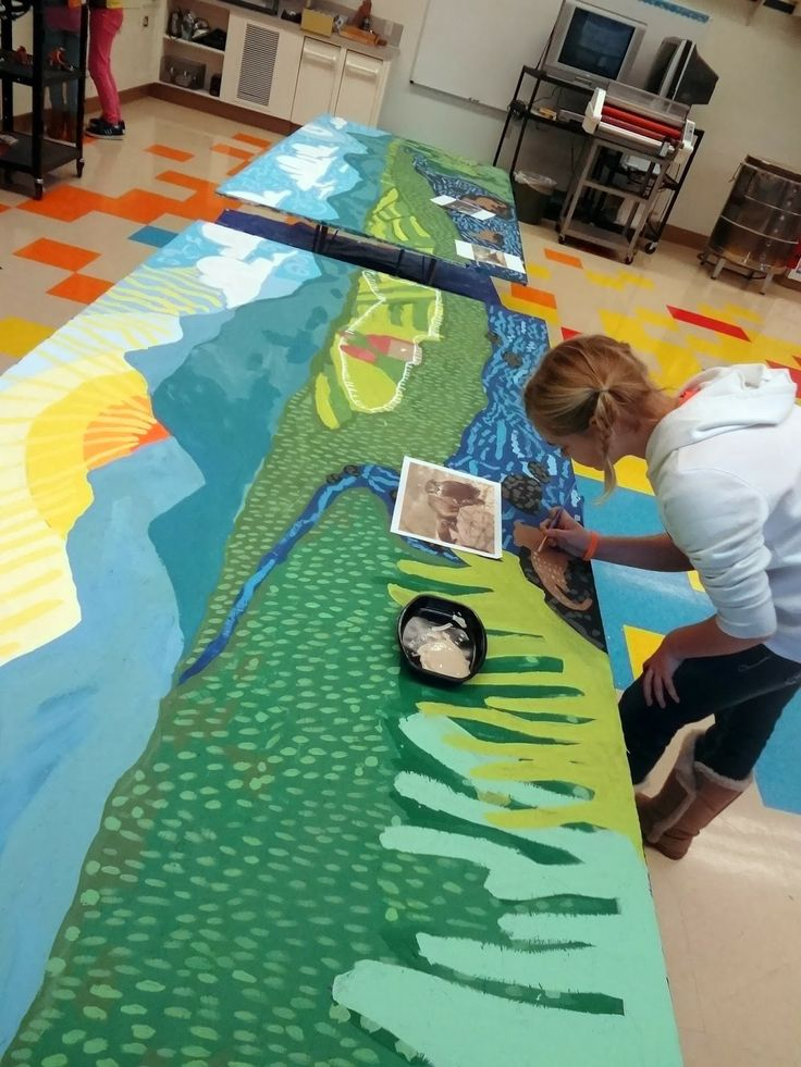 Collaborative Co Teaching Model ~ Murals with children student painted mural school