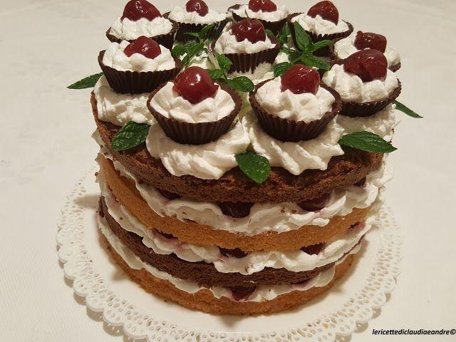 Le    ricette    di    Claudia  &   Andre : Torta bicolore con latte e scaglie di cocco, panna...