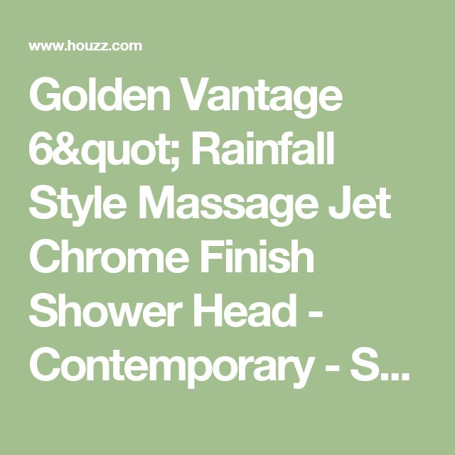 "Golden Vantage 6"" Rainfall Style Massage Jet Chrome Finish Shower Head - Contemporary - Showerheads And Body Sprays - by Golden Vantage"