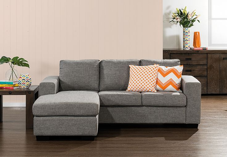 Bonza Fabric 3 Seater Sofa with Chaise | Super A-Mart