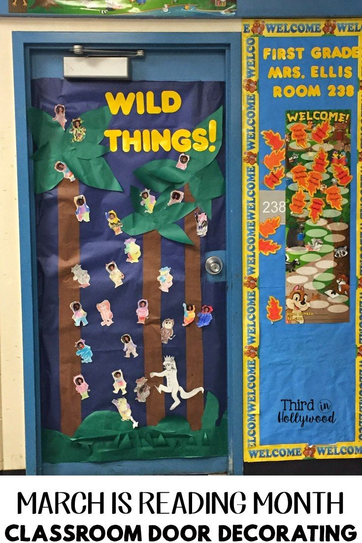 Classroom Decoration Ideas For March : March is reading month classroom door decorating