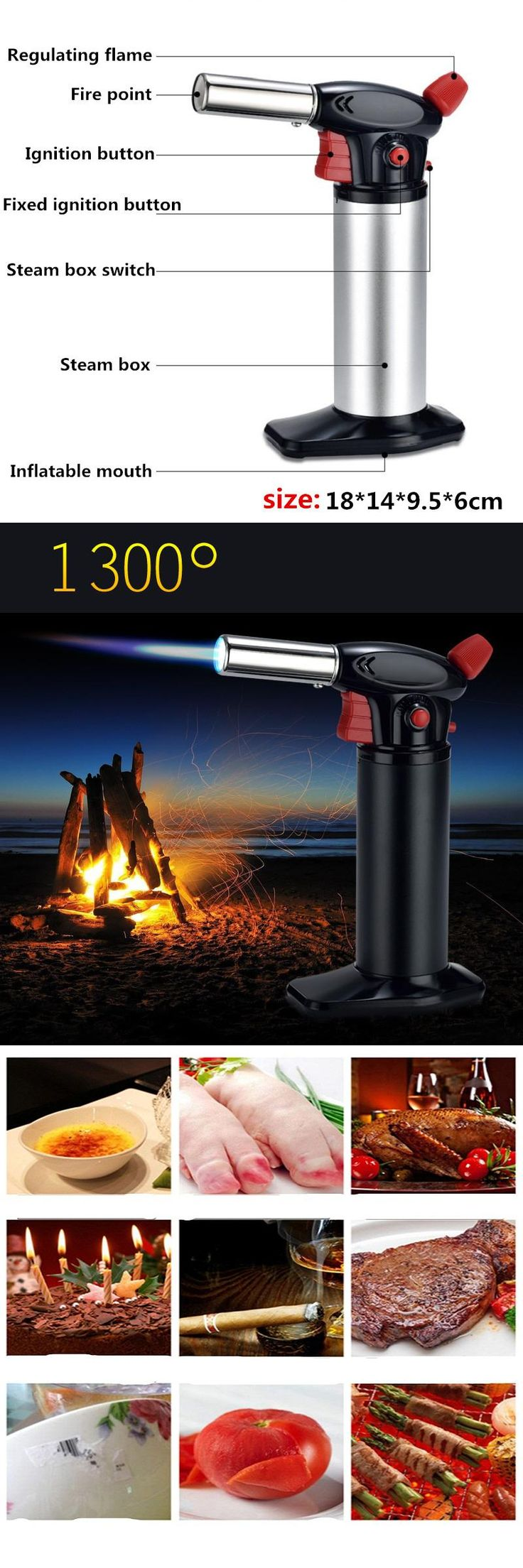 Jet 1300 C Welding Torch Lighter Cigar Cigarette Lighter Roasting Fire Gun Super Firepower High Temperature Burning Lighter 7003