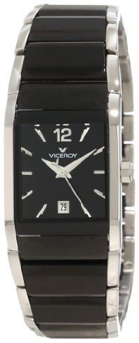 Viceroy Women's 47458-55 Black Ceramic Square Stainless-steel Date Watch Viceroy. Save 60 Off!. $368.00. Second hand feature. Date window. Stainless steel case. Black ceramic with stainless steel bracelet. Water resistance up to 165 feet (50m)