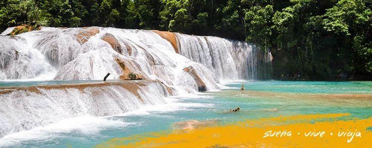 Las #Cascadas de Agua Azul son un paisaje extraordinario ubicado en la selva de #Chiapas. #Mexico