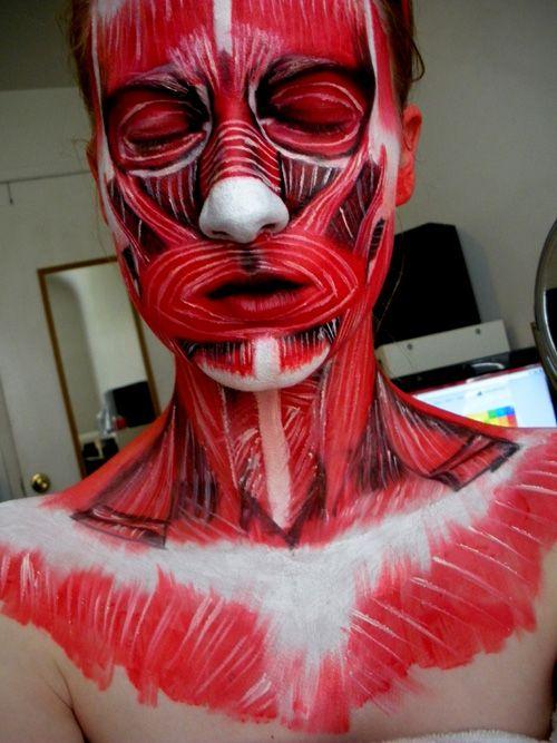 Special Effects Makeup #sfx #sfxmakeup specialfx www.unwoundfx.com #unwoundfx muscles and flesh