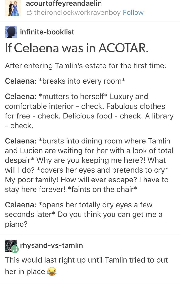 Celaena dumping books and chocolate into a bag, looks over shoulder to find Tamlin staring angrily: If you come any closer I'll gut you like a fish. Tamlin continues his stride,a dagger whizzes pass and a sharp pain stings his cheek and he freezes. Celaena: that was a warning, next it'll be your eye.. you and Lucien can be twins.
