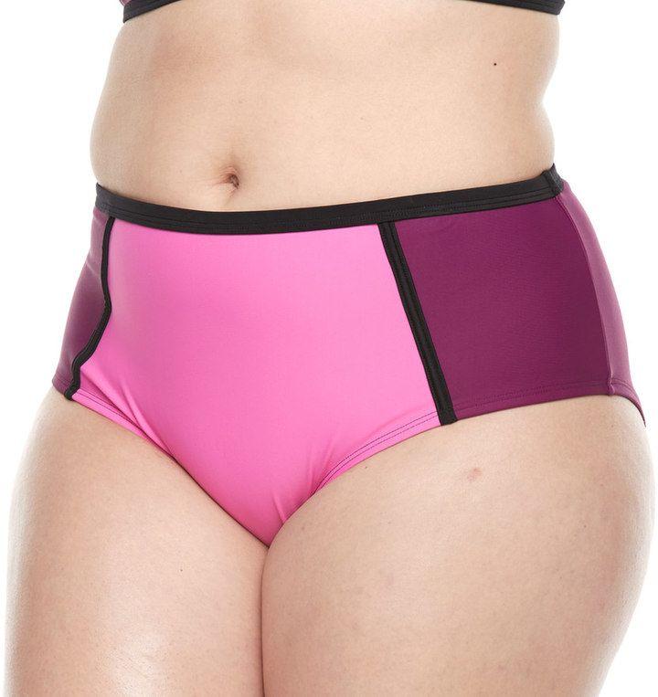 Paramour Plus Size Paramour High-Waisted Bikini Bottoms