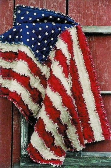 My Cute Idea: American Flag Rag Quilt