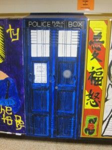 School locker redone as the TARDISGeek, The Tardis, Awesome, Doctorwho, Tardis Lockers, Doctors Who, Dr. Who, Art Projects, High Schools