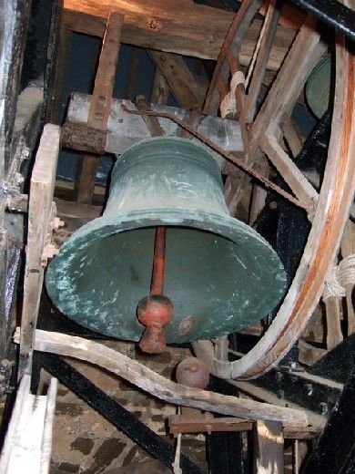 Catholic church bell....Our whole family belonged to St. Joseph Church in Berlin.  The church was a mainstay for our entire family.  Family events and church events aligned.  K.W.