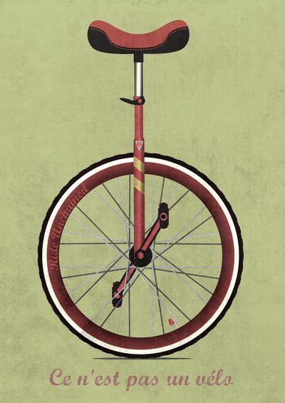 Unicycle Art Print Wyatt Design