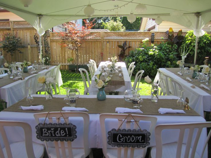 small simple backyard wedding hints oh help find a bell at a