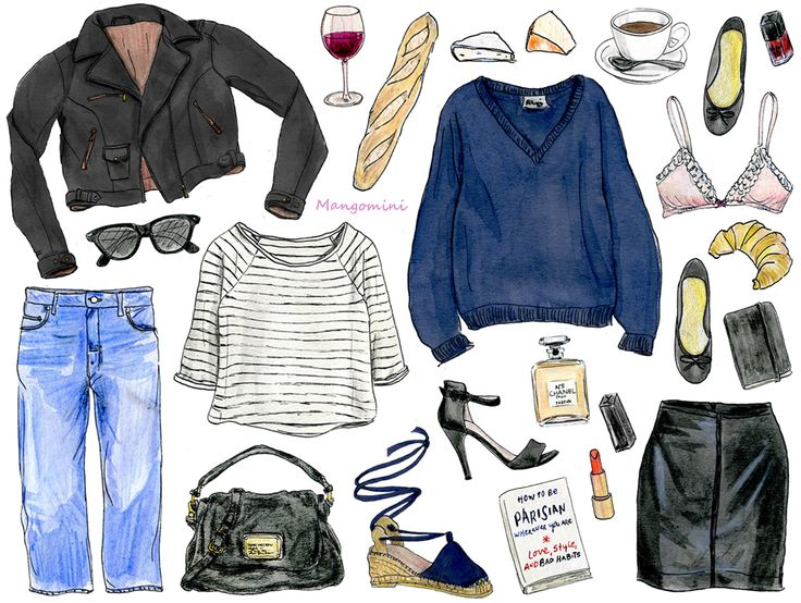How to be Parisian (part deux) - Cindy Mangomini ~ this is adorable.  Looks like all my favorite things minus the croissant.