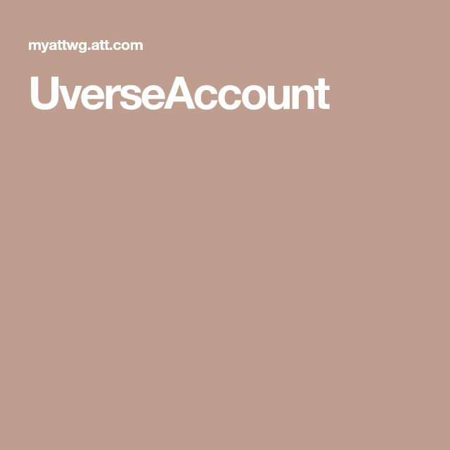 UverseAccount