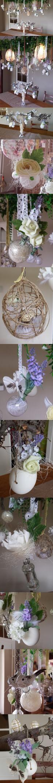 Mijn lamp in sfeer van Pasen met paaseieren, vaasjes, bloemetjes en decoratie, paasei, paashaas