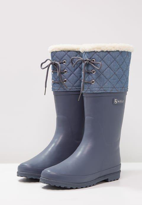 Chaussures Aigle POLKA GIBOULÉE - Bottes en caoutchouc - ardoise bleu gris: 74,95 € chez Zalando (au 5/12/17). Livraison et retours gratuits et service client gratuit au 0800 797 34.