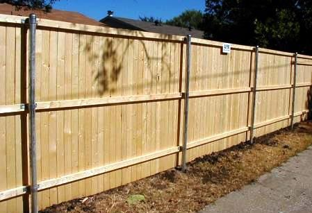 How To Build A Wooden Privacy Fence Using Metal Posts