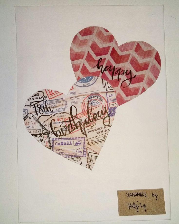 #handmadebykellylip #handmadebirthdaycard #withheart #DIYcard
