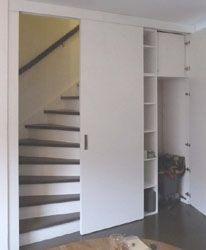 opbergkast en ruimte voor koelkast (nog niet geplaatst)