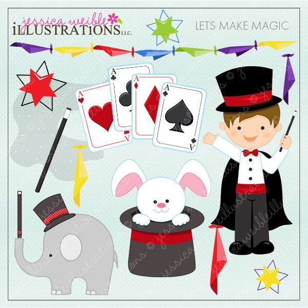 Lets Make Magic - 16 cute graphics for your craft projects and invitations.