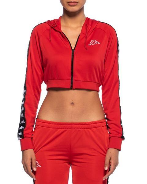 87fb85d49fa Kappa Womens 222 Banda Arakli Red Crop Jacket - Front | items i need ...
