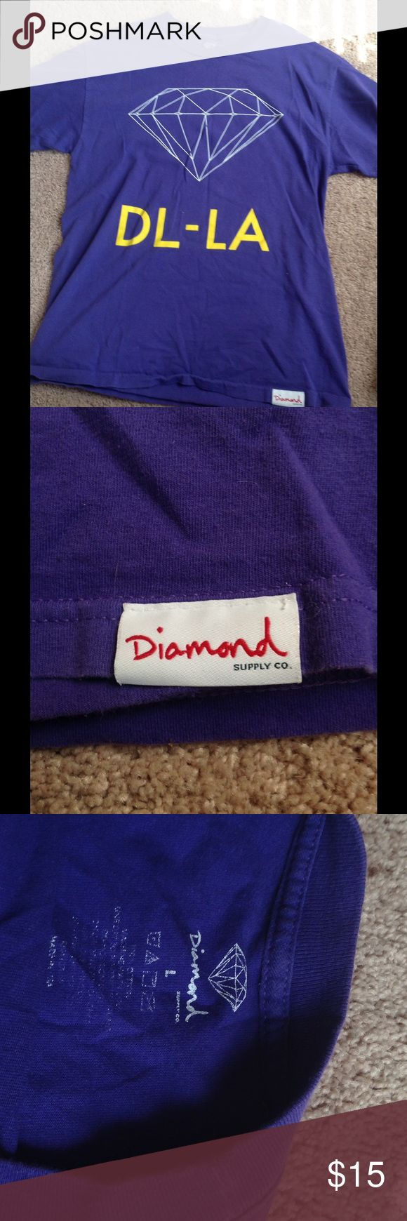 MENS diamond supply company Purple, white, and yellow Diamond Supply Company large shirt Diamond Supply Co. Tops Tees - Short Sleeve