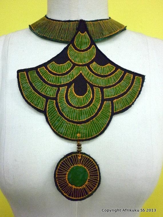 African Necklace  Akilah by afrikuku on Etsy, £70.00