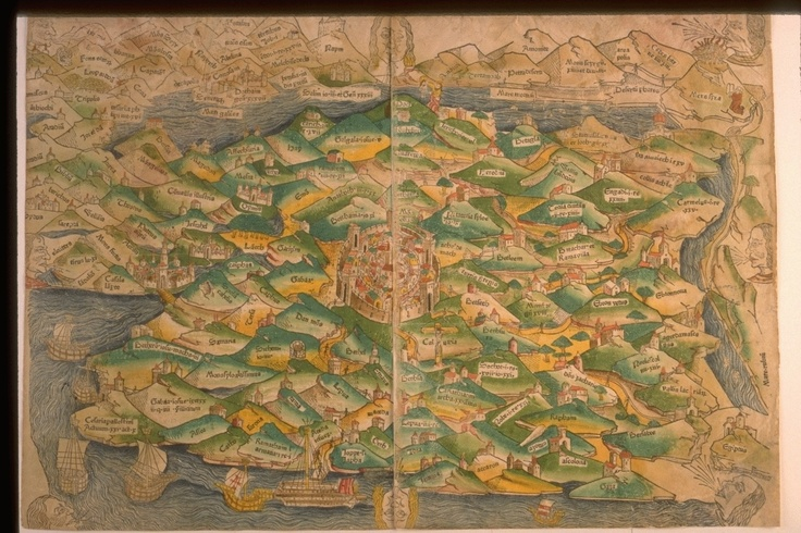 This 1475 map of the Holy Land