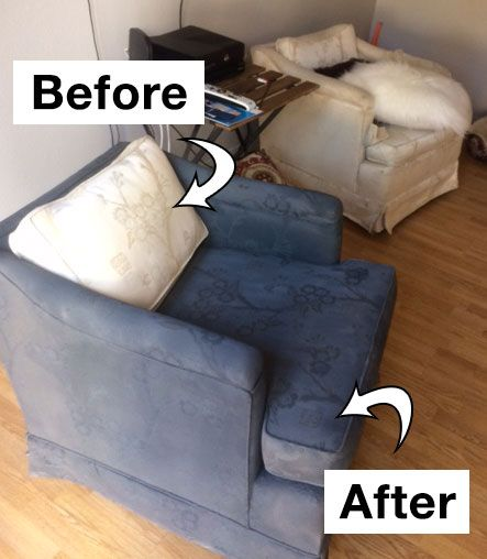 Sofa Pillows Change the Color of Armchairs using Simply Spray Upholstery Fabric Spray Paint