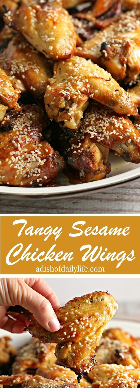 These Tangy Sesame Chicken Wings, with their Asian flair, are my go-to game day and party appetizer recipe! Everyone always raves about them, and they disappear quickly! YOU HAVE TO TRY THESE! *Make a double batch and freeze the extras for another party!