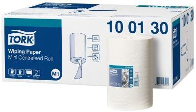 Lavete prosop Tork pentru Sistem M1 Centrefeed. Hartie rezistenta cu absorbtie rapida pentru scurgerile de apa sau grasime.