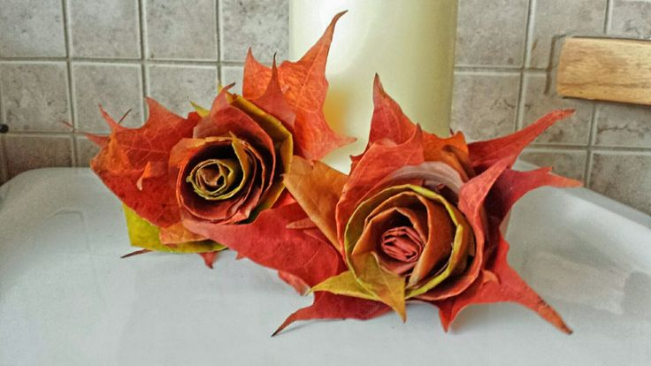 How to make Rolled Leaf Roses with Maple Leaves