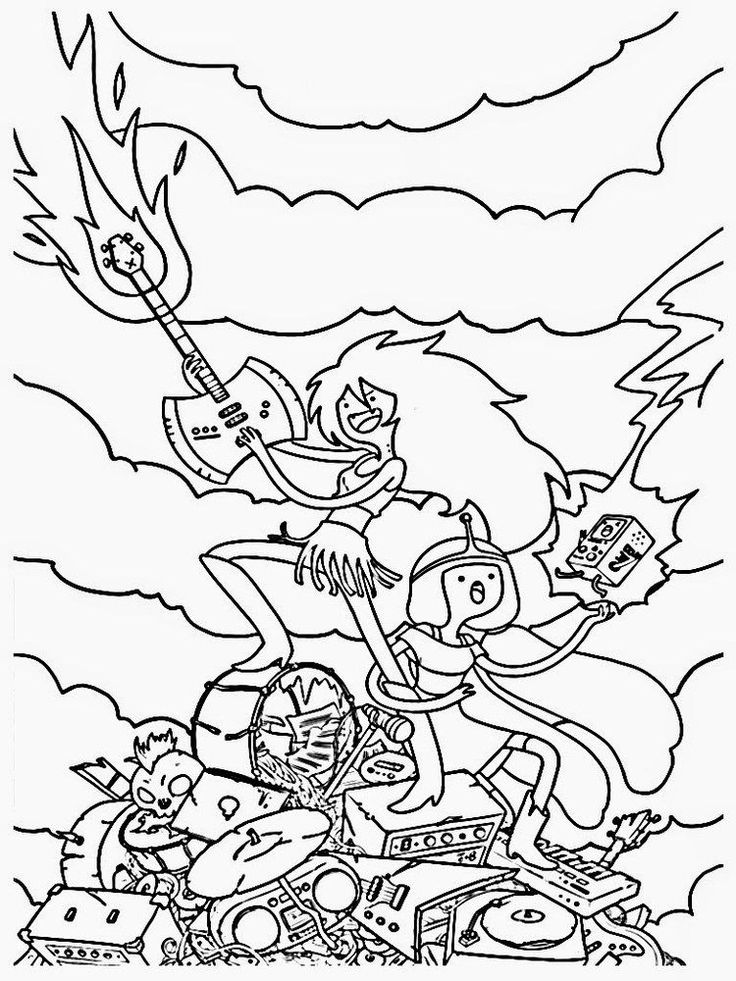 Adventure Time Bmo Coloring Pages Adventure Coloring Pages En 2020