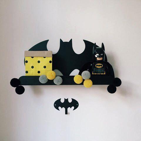 Batman book shelf by metallovepl on Etsy https://www.etsy.com/listing/285674343/batman-book-shelf