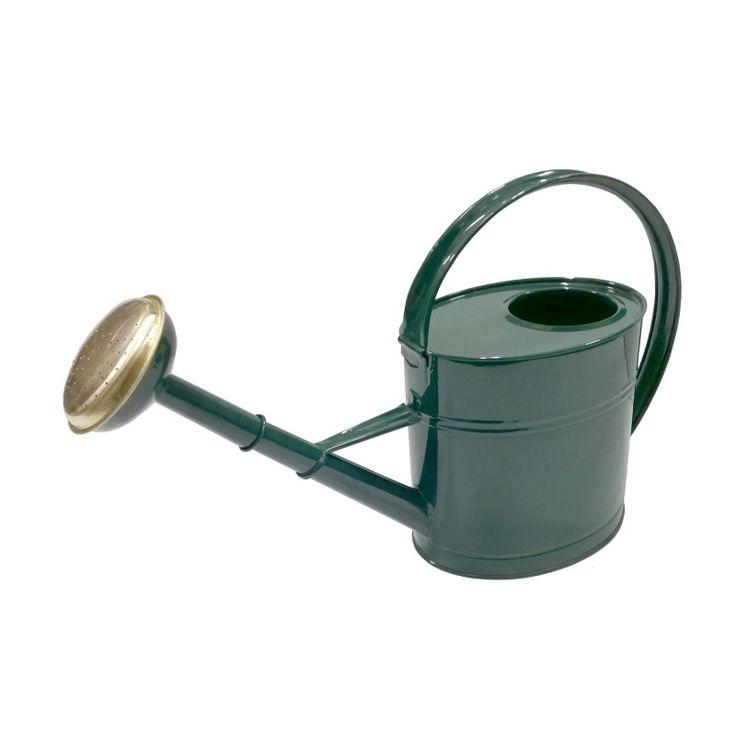 Vattenkanna metall grön