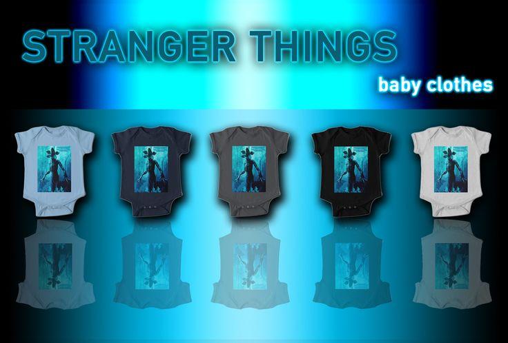 Stranger Things Baby Clothes. #strangerthings #babyclothes #strangerthingsbabyclothes #babyshowergifts #badassbaby #redbubble #giftsforher #style #clothing #buy #giftsforbabies #babyclothes #babygifts #tvseries #babyshower #newborn #coolbaby #coolbabygifts #babyboygifts