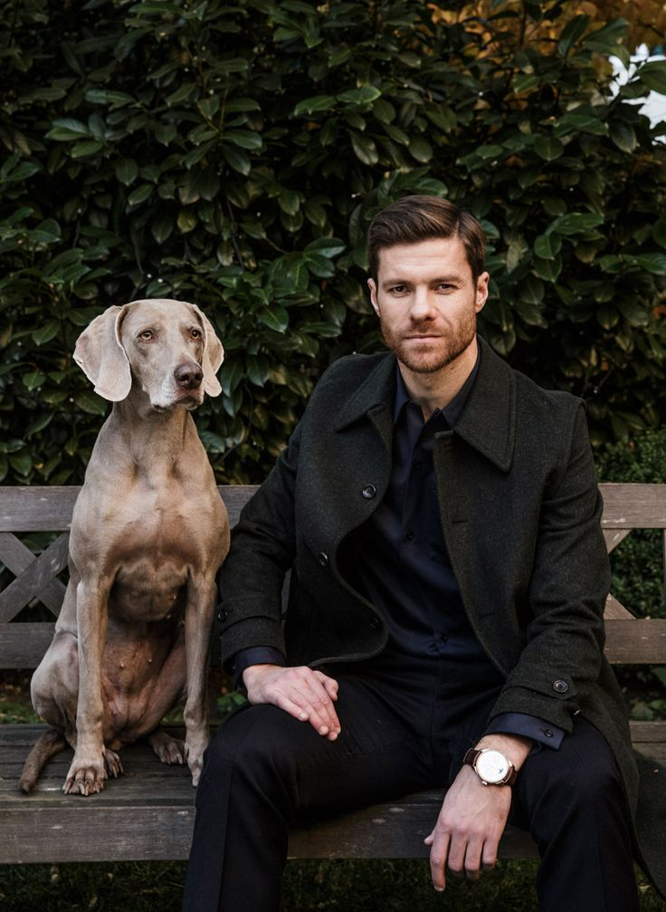 Xabi Alonso and a dog