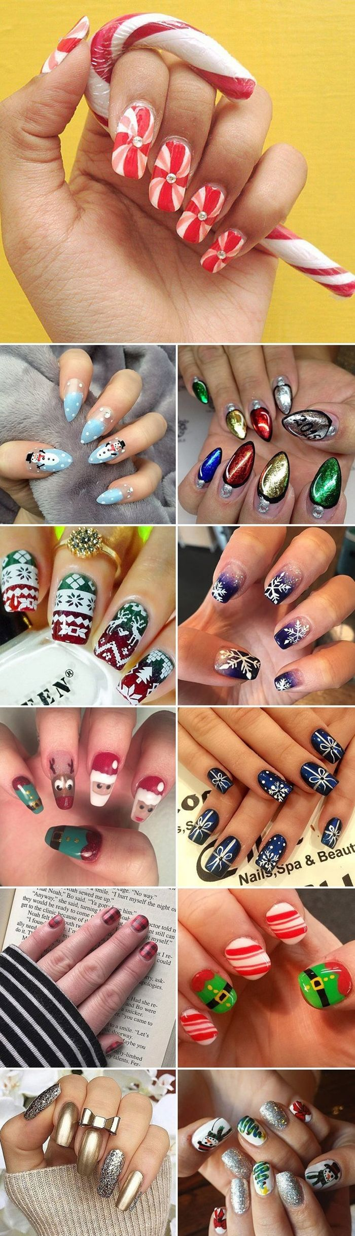 301 best christmas nail artdesign images on pinterest christmas 25 cute christmas nail art designs 2016 fashion te solutioingenieria Image collections