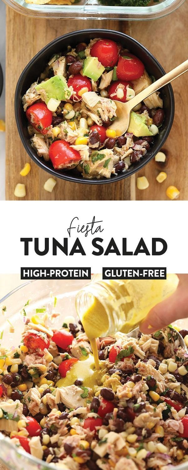 Tuna salad never looked so fresh! Make this colorful healthy tuna salad recipe w… – Salad Recipes