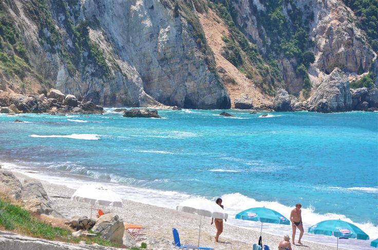 The fabulous Petani beach on the Lixouri peninsula.
